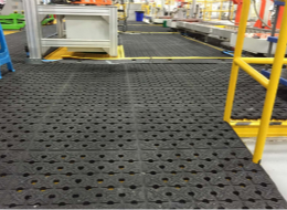 Strong oil resistant and fatigue resistant mat