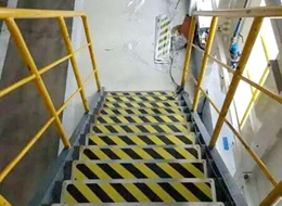 Staircase skid pad